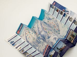 skiing map zcard printed