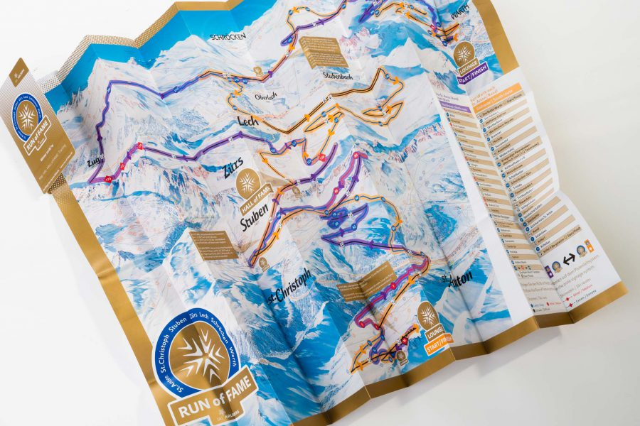 ski arlberg pocketfolder skiing map